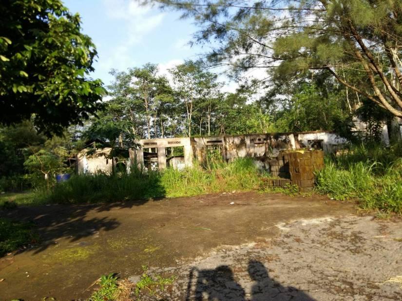 Rumah-rumah sisa erupsi Gunung Merapi
