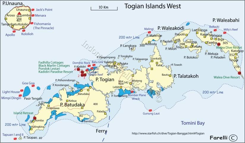 Peta Kepulauan Togean