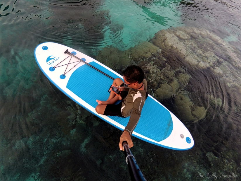 Paddleboarding at Raja Ampat