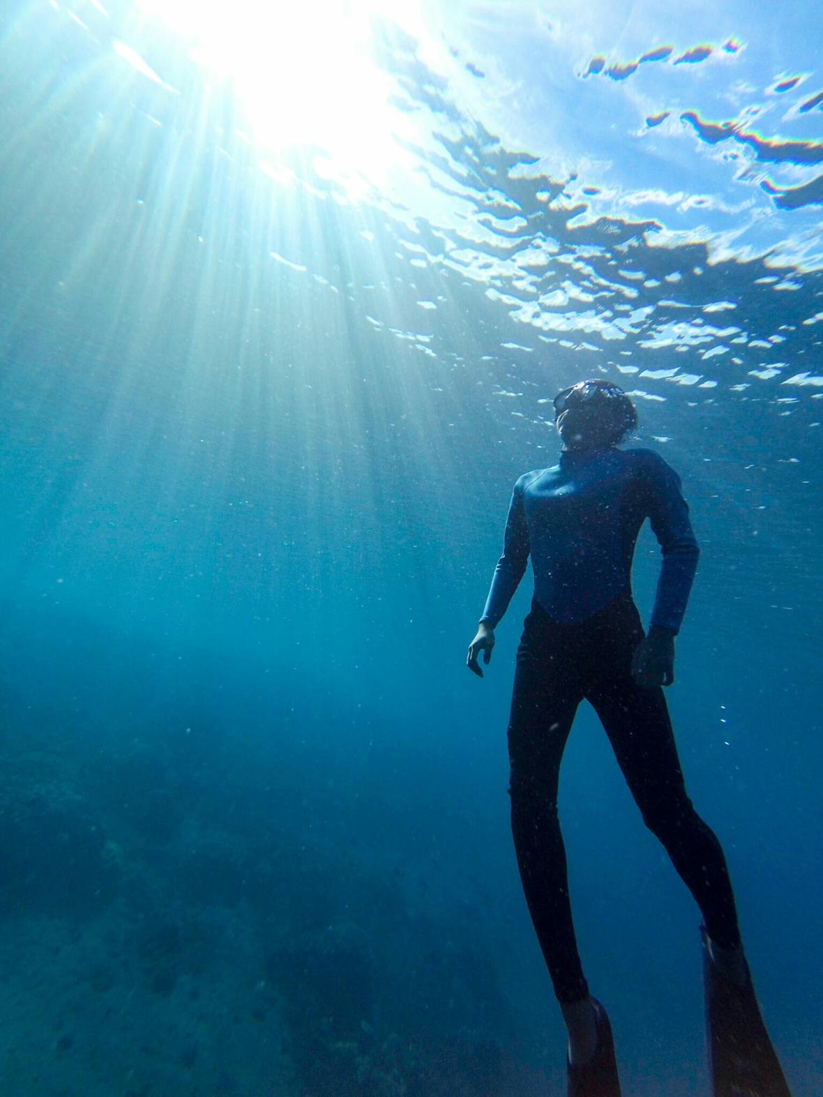 Freediving Amed, Bali